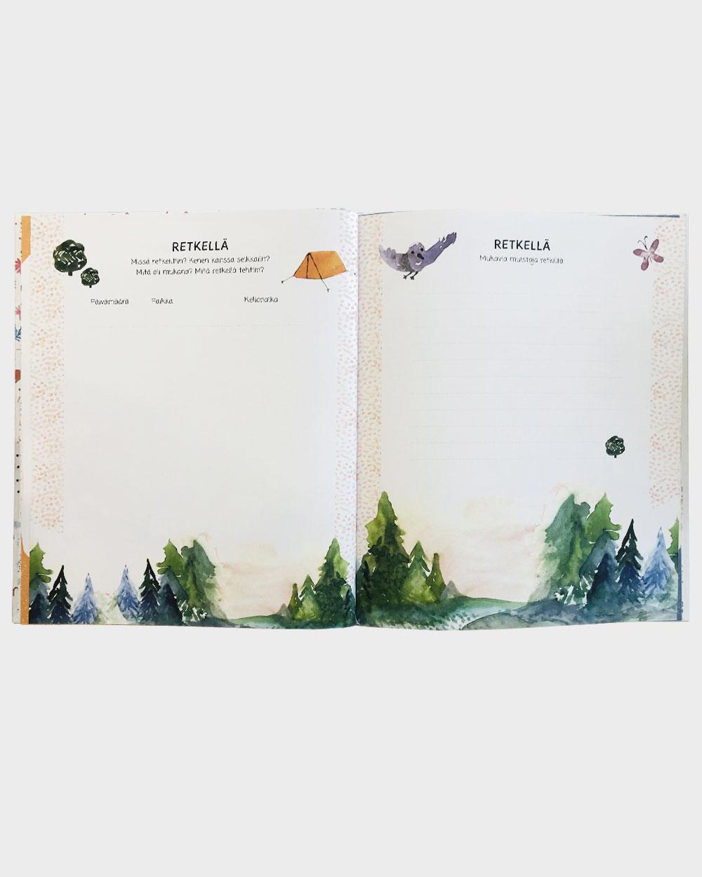Pienen seikkailijan kirja aukeama