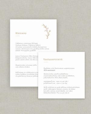 Magnolia Pocket hääinfo ja vastauspyyntökortti