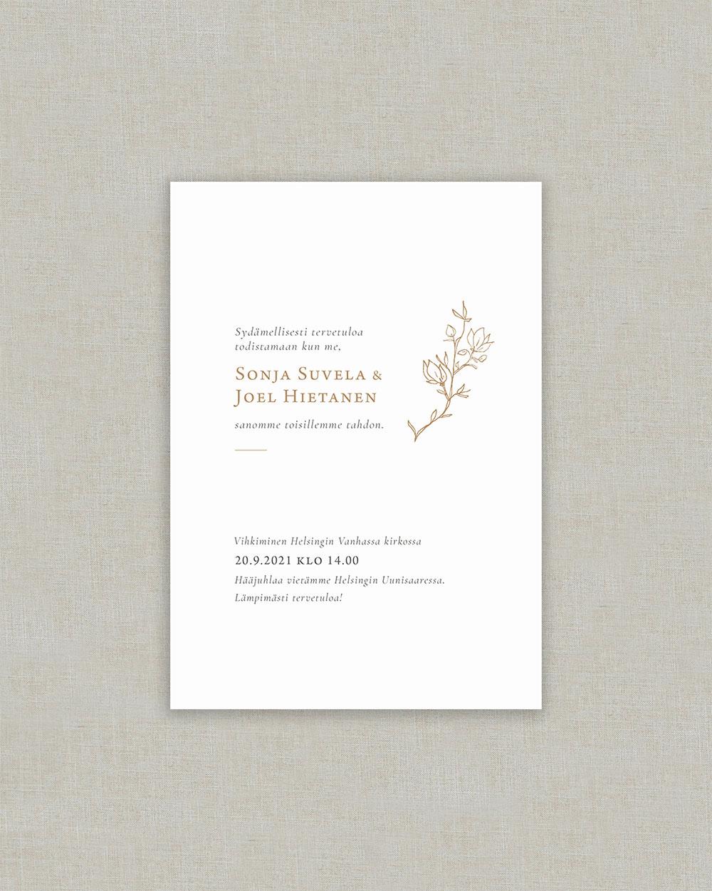 Magnolia Pocket kutsukortti