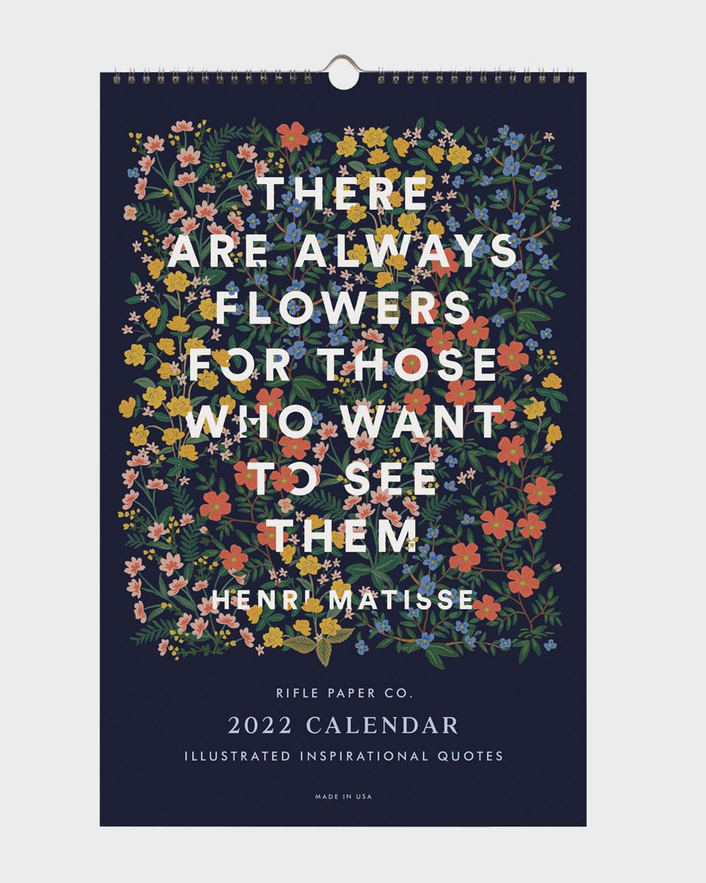 Quote 2022 seinäkalenteri kansi