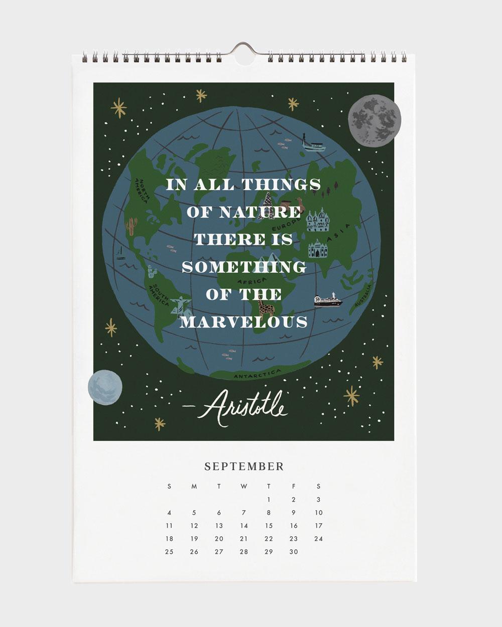 Quote 2022 seinäkalenteri syyskuu