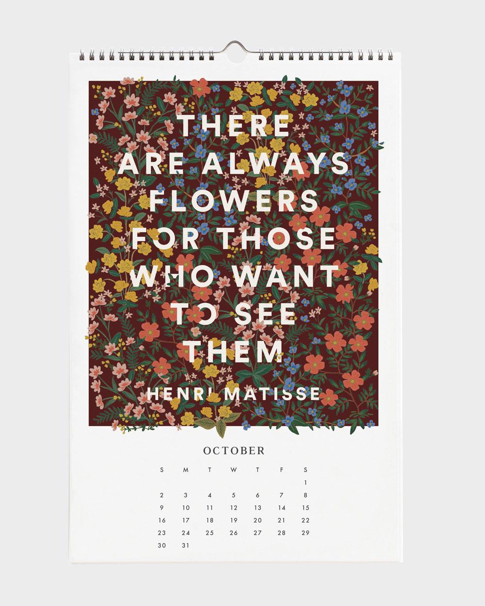 Quote 2022 seinäkalenteri lokakuu