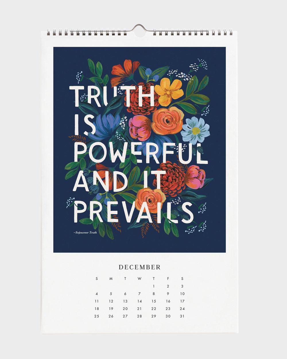 Quote 2022 seinäkalenteri joulukuu