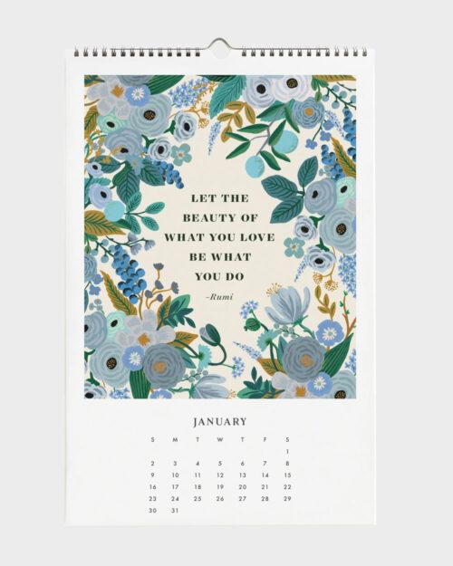 Quote 2022 seinäkalenteri tammikuu