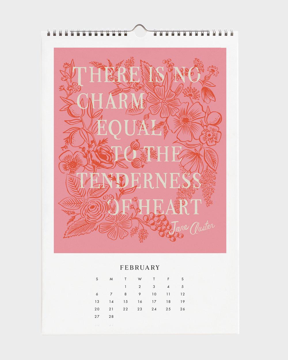 Quote 2022 seinäkalenteri helmikuu