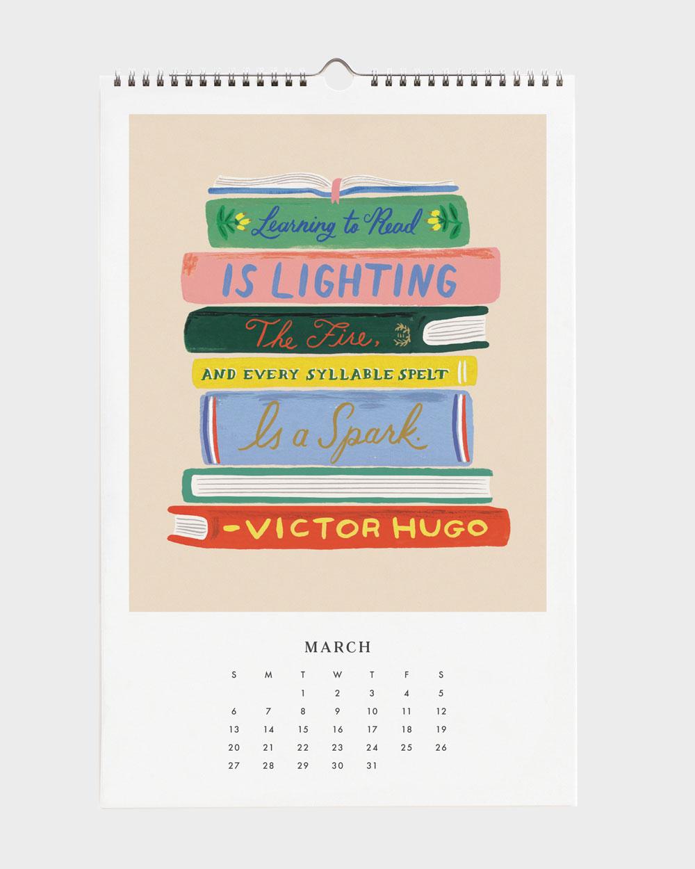 Quote 2022 seinäkalenteri maaliskuu