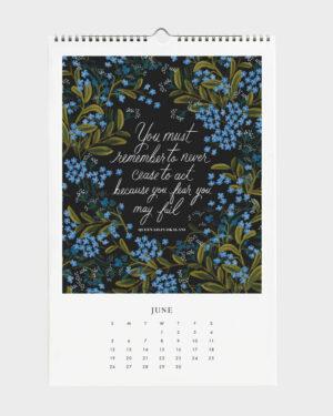 Quote 2022 seinäkalenteri kesäkuu