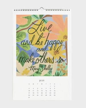 Quote 2022 seinäkalenteri heinäkuu