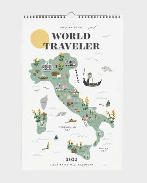 World Traveler 2022 seinäkalenteri