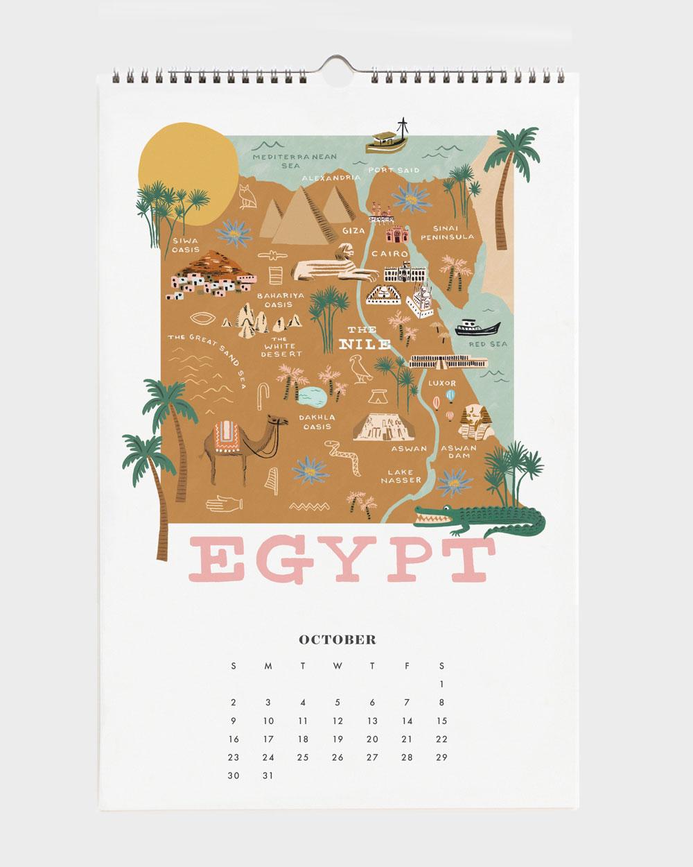 World Traveler 2022 seinäkalenteri Egypt