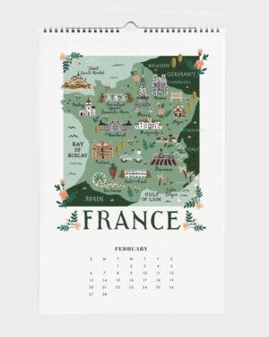 World Traveler 2022 seinäkalenteri France