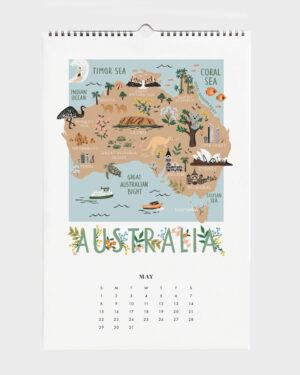 World Traveler 2022 seinäkalenteri Australia