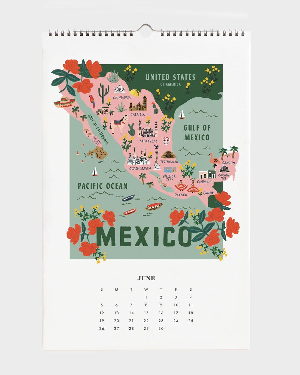 World Traveler 2022 seinäkalenteri Mexico