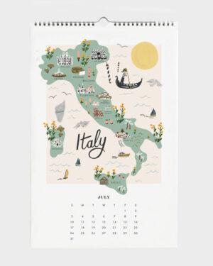World Traveler 2022 seinäkalenteri Italy