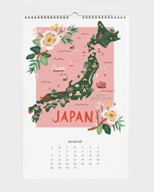 World Traveler 2022 seinäkalenteri Japan