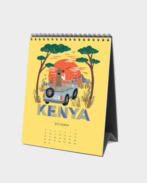 Explore the world 2022 pöytäkalenteri lokakuu