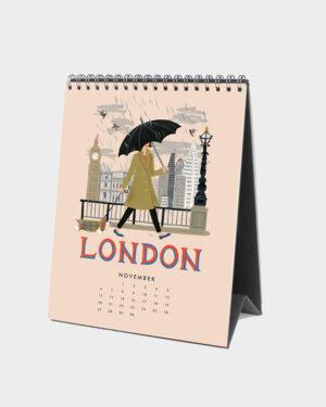Explore the world 2022 pöytäkalenteri marraskuu