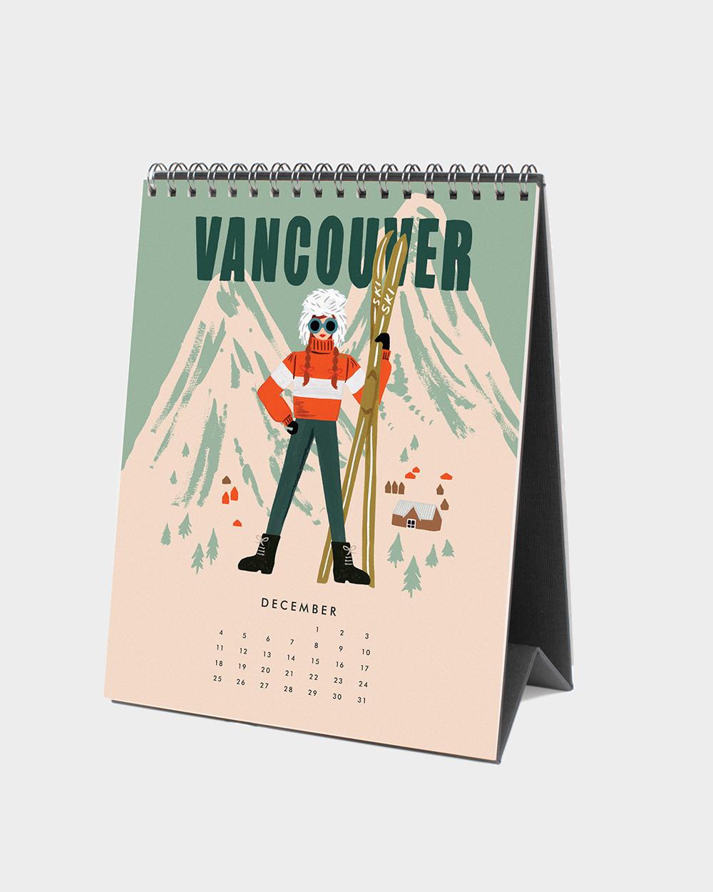 Explore the world 2022 pöytäkalenteri joulukuu