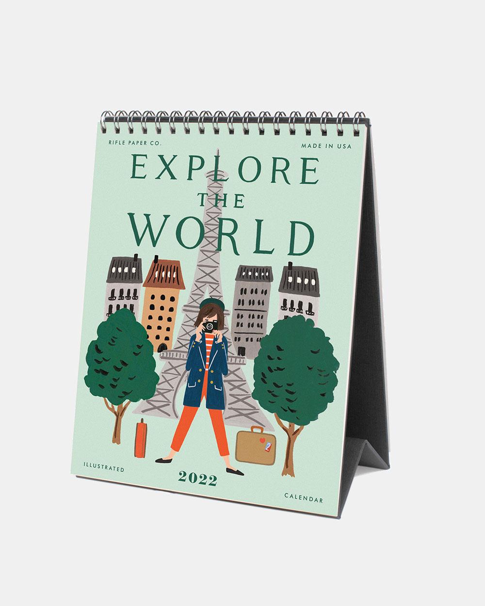 Explore the world 2022 pöytäkalenteri kansi