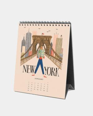 Explore the world 2022 pöytäkalenteri tammikuu