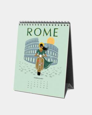 Explore the world 2022 pöytäkalenteri helmikuu