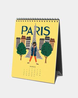 Explore the world 2022 pöytäkalenteri maaliskuu