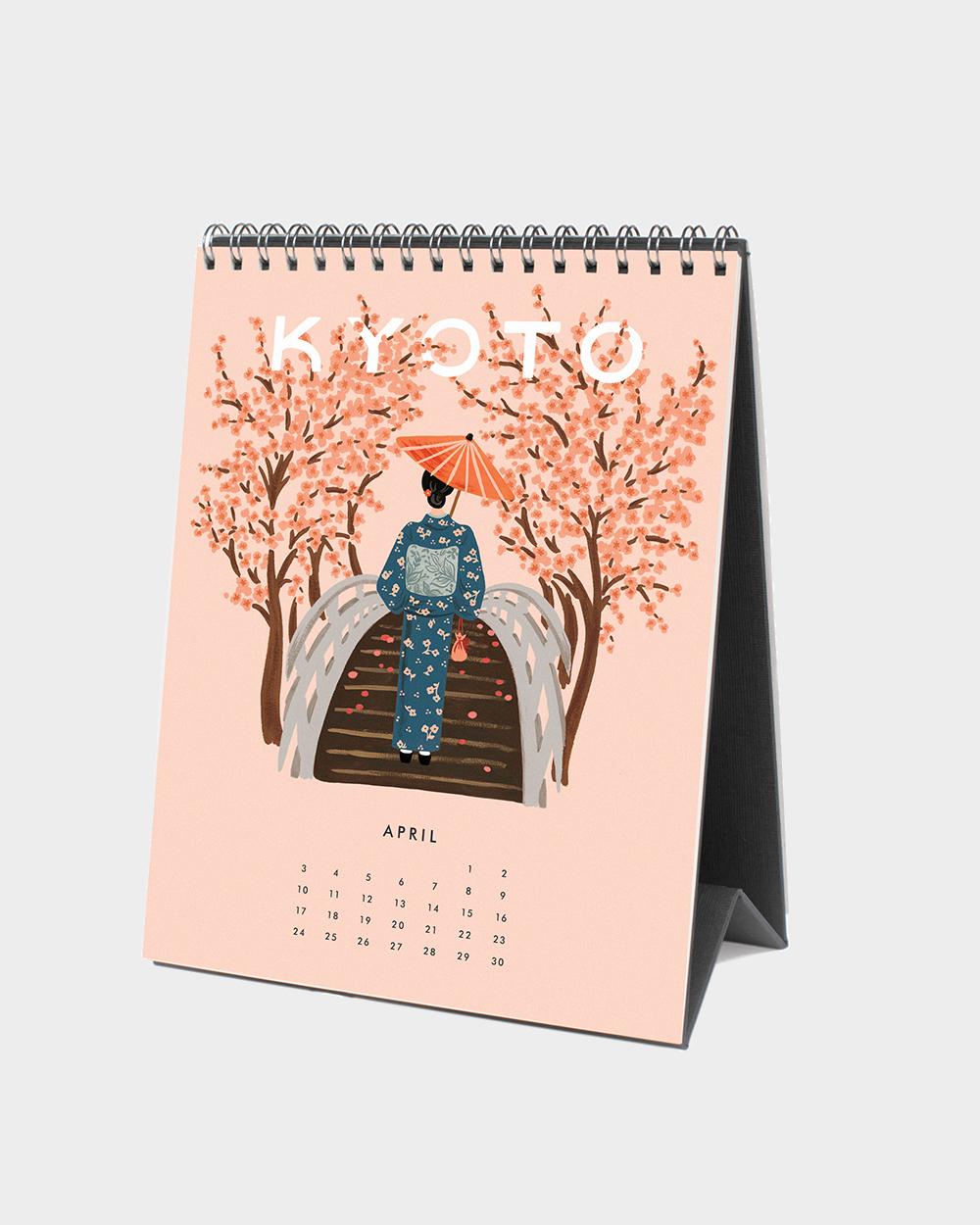 Explore the world 2022 pöytäkalenteri huhtikuu