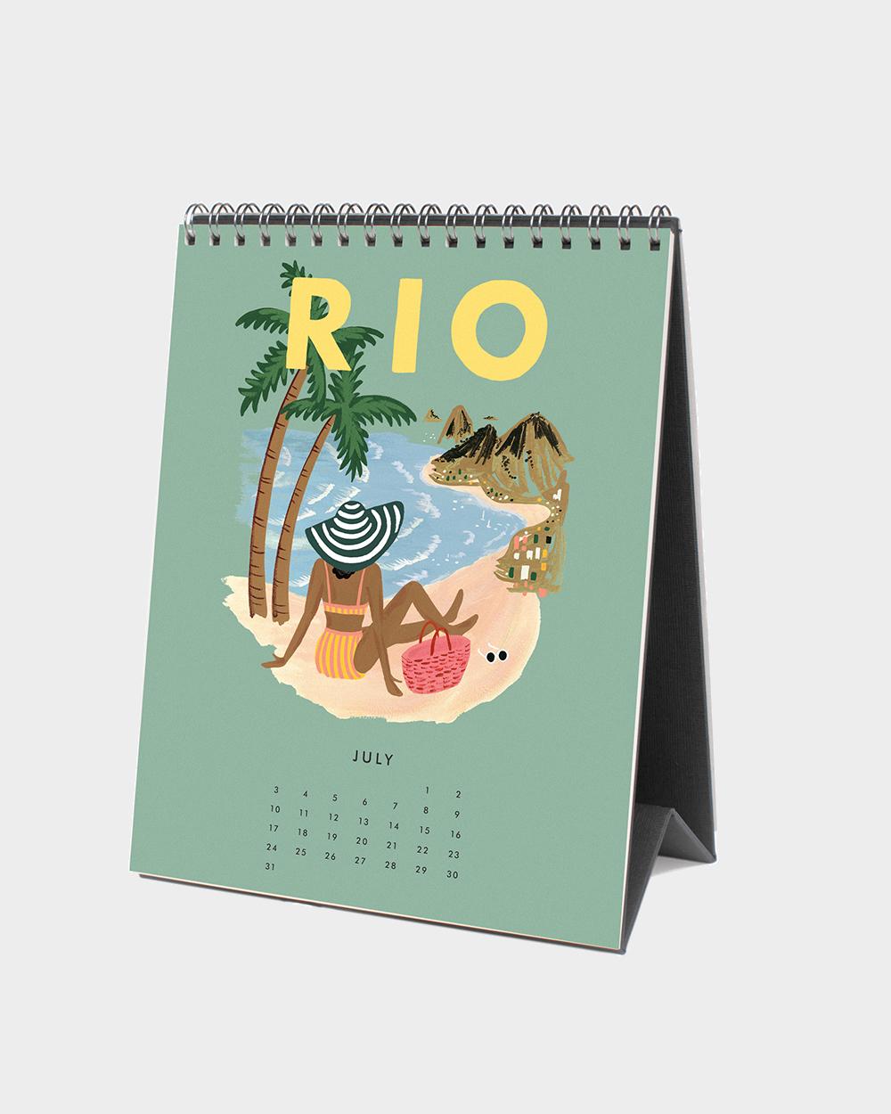 Explore the world 2022 pöytäkalenteri heinäkuu