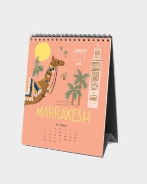 Explore the world 2022 pöytäkalenteri elokuu