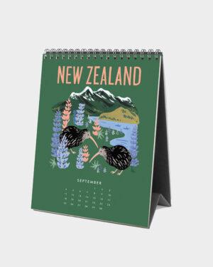 Explore the world 2022 pöytäkalenteri syyskuu