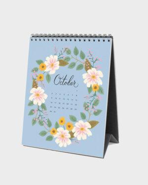 Wild Garden 2022 pöytäkalenteri lokakuu