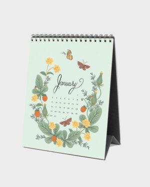 Wild Garden 2022 pöytäkalenteri tammikuu