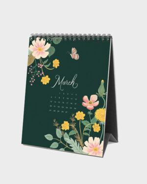 Wild Garden 2022 pöytäkalenteri maaliskuu