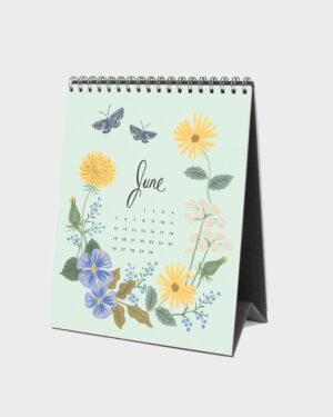 Wild Garden 2022 pöytäkalenteri kesäkuu