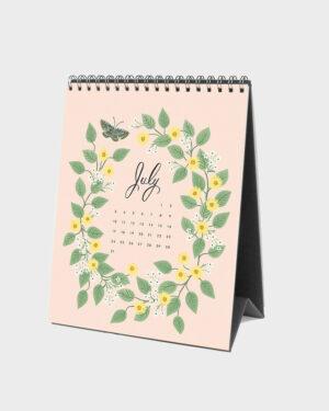 Wild Garden 2022 pöytäkalenteri heinäkuu