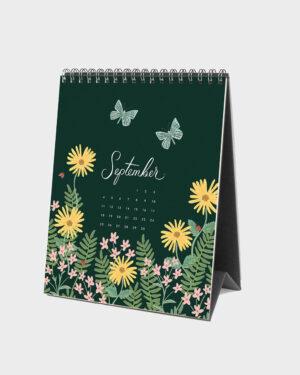 Wild Garden 2022 pöytäkalenteri syyskuu