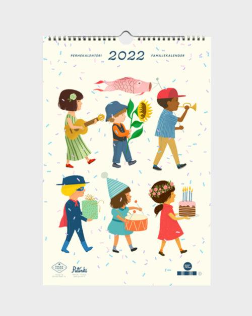 Polka Paper perhekalenteri 2022 kansi