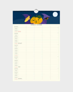 Polka Paper perhekalenteri 2022 lokakuu