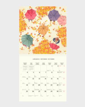 Polka Paper seinäkalenteri 2022 lokakuu
