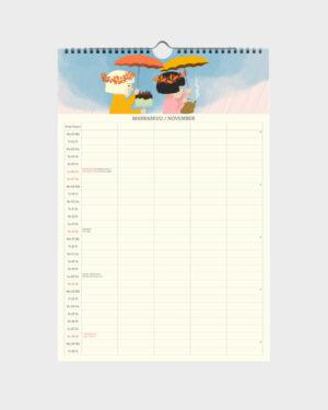 Polka Paper perhekalenteri 2022 marraskuu