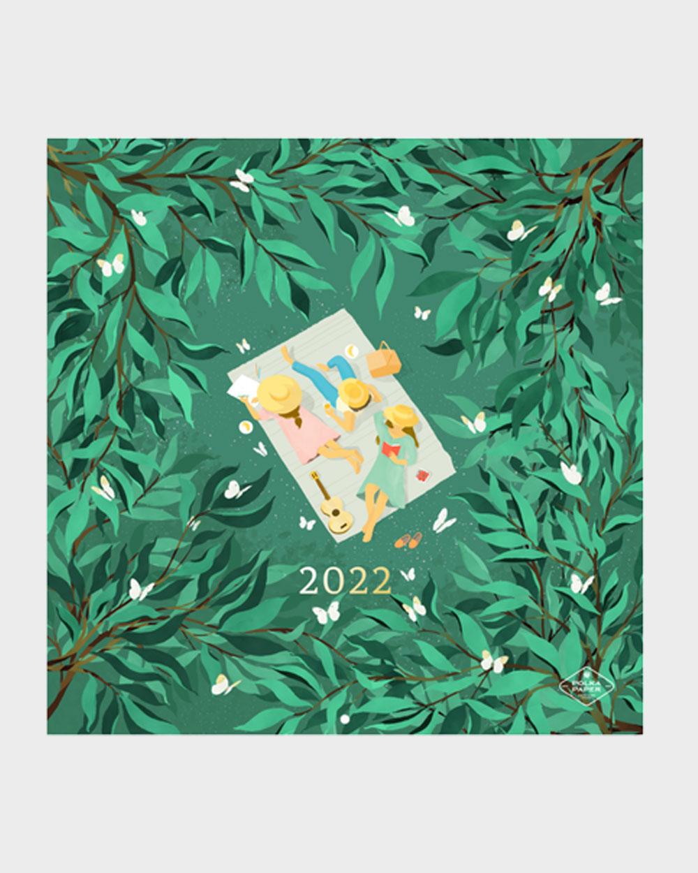 Polka Paper seinäkalenteri 2022 kansi