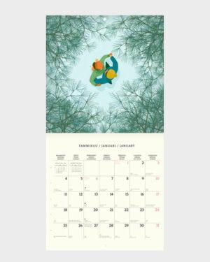 Polka Paper seinäkalenteri 2022 tammikuu
