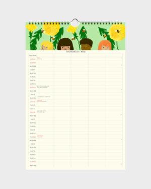 Polka Paper perhekalenteri 2022 toukokuu