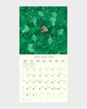 Polka Paper seinäkalenteri 2022 elokuu