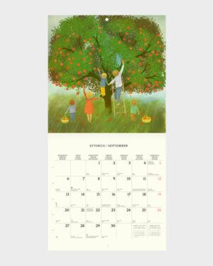 Polka Paper seinäkalenteri 2022 syyskuu