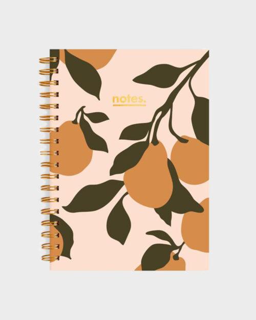 Golden Pears Kierresidottu muistikirja